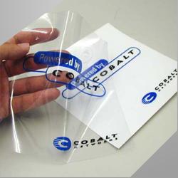 B. Stiker Transparant